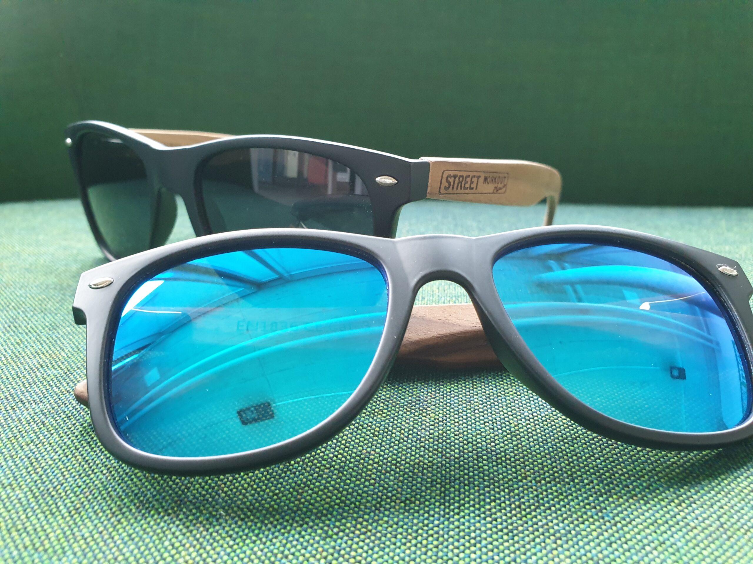Street Workout Place Sonnenbrille mit blauen Gläsern